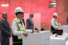 Enerji ve Tabii Kaynaklar Bakanı Fatih Dönmez, Mardin'in Dargeçit ilçesinde düzenlenen Ilısu Barajı Enerji Santrali 1. Tribün Devreye Alınma Töreni'ne katıldı. Bakan Dönmez burada bir konuşma yaptı.  ( Celal Güneş - Anadolu Ajansı )