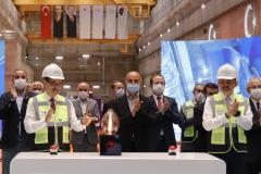 Enerji ve Tabii Kaynaklar Bakanı Fatih Dönmez, Mardin'in Dargeçit ilçesinde düzenlenen Ilısu Barajı Enerji Santrali 1. Tribün Devreye Alınma Töreni'ne katıldı ( Celal Güneş - Anadolu Ajansı )